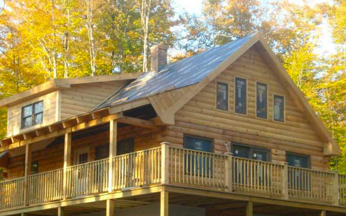 Log home built by Thurston & Son Builders